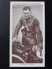 No.24 ERNST HENNE - Kings of Speed - W.A.& A.C.Churchman 1939