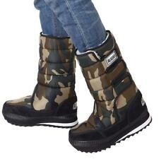 Warm Winter Mens Camo Snow Ankle Boots Quitted Waterproof Shoes Plus Size #338