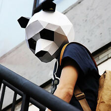 DIY 3D Cartoon Panda Mask Paper Model Mask Holloween & Masquerade & Party Mask~~