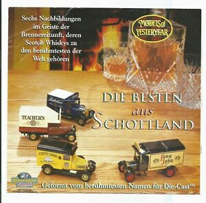MATCHBOX  'Models of Yesteryear' leaflet feat. Scotch Whisky Trucks in German