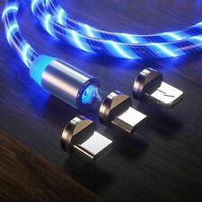 Cavo caricatore magnetico per telefono LED Cavo micro USB tipo C per iPhone...