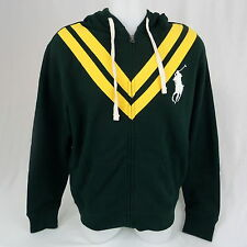 POLO Ralph Lauren Big Pony Full Zip Sweater Cardigan Sweat-shirt Hooded Jacket L