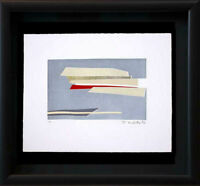 "Hans RICHTER Original ETCHING Hand SIGNED Ltd. ED no. 5/99 ""Planes..."" w/Frame"