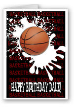 Basketball Personalised Birthday Gift Card Glossy A5 Design1
