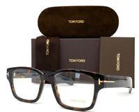 Tom Ford FT5527 052 Havana / Demo Lens 50mm Eyeglasses TF5527
