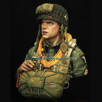 1/10 Scale Unassembled Soldier Bust Model Unpainted WWII Man Figure Garage Kits