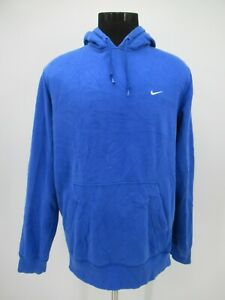 P5663 VTG Nike Swoosh One Point Embroidered Hoodie Size XL
