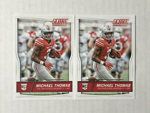 MICHAEL THOMAS LOT OF 2 2016 Score ROOKIE BASE RC's #362! CHECK MY ITEMS!