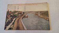Architecture Postcard Washington Bridge & Speedway NY Pre-Linen Antique 1914 vtg