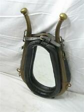 Vintage Leather Horse Collar Harness Wall Mirror Equestrian Tack Hames Stable