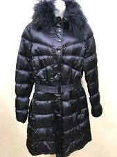 Mad Bomber Down Coat Long Puffer Fur Collar Womens SmallUrban Quilted Winter