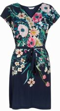 Monsoon Maeve Silk Front Dress Uk 18 Bnwt Navy Floral Print