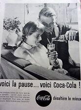 PUBLICITE de presse LA PAUSE  COCA COLA  en 1961 ef. 22734