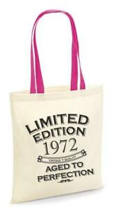 48th Party Cotton Tote Bag Birthday Presents Gifts Year 1972 Shopper Shopping