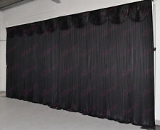 6Mx3M Black Wedding Backdrop Curtain with Detachable Swag for SALE (20ftx10ft)
