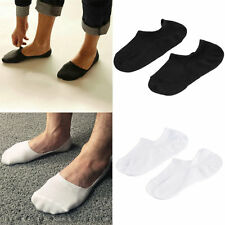 Men Invisible Bamboo Fiber Causual Socks Loafer Boat Liner Low Cut Nonslip SG