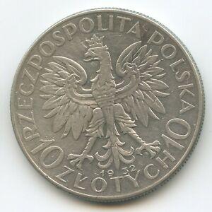 GS1417 - Poland 10 Zlotych 1932 Y#22 Silver Queen Jadwiga Polskich Polska Polen