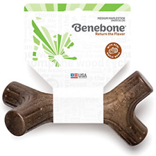 New listing Benebone Maplestick Real Wood Durable Dog Chew Toy, Made in Usa, Medium