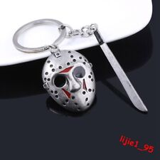 Friday The 13th Jason Voorhees Mask & Machete Alloy Key Chains Keychain Keyring