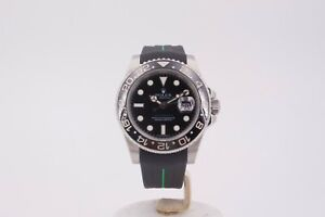 Rolex GMT-Master II 116710LN Watch with Rubber B Strap
