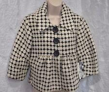New PRETTY KENSIE  Retro Polka Dot 3/4 SLEEVE  Women's Coat Medium