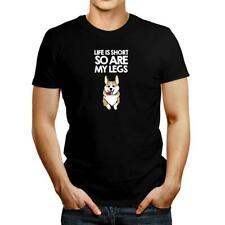 Life is short so are my legs Pembroke Welsh Corgi T-shirt
