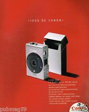 Publicité advertising 1996 Appareil photo Canon Ixus