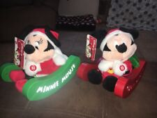 Disney Mickey Mouse & Minnie Animated Sleigh Pals Singing Merry Christmas