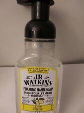 J.R. Watkins FOAMING HAND SOAP Lemon Scent 9 fl oz ALL NATURAL PLANT-BASED