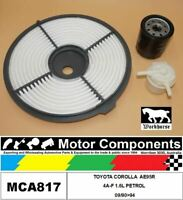 FILTER SERVICE KIT FOR TOYOTA COROLLA AE95R 4A-F 1.6L PETROL 09/90>94