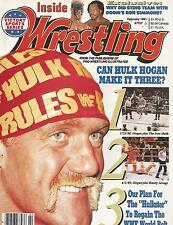 FEBRUARY 1991 INSIDE WRESTLING MAGAZINE HULK HOGAN WWF IRON SHEIK MACHO MAN FINK