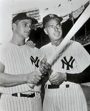 ROGER MARIS AND JOE DIMAGGIO YANKEES ALL TIME GREATS 8x10 PHOTO