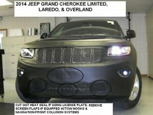 Lebra Front End Mask Cover Bra Fits 2014-2016 Jeep Grand Cherokee Lorado Limited