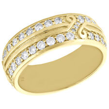 14K Yellow Gold Round Diamond Eternity Wedding Band 8mm Infinity Ring 1.74 CT.