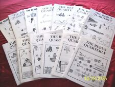 The Rebus Quarterly Word Puzzle Zine magazine Newsletter Complete Set of 13 pdfs