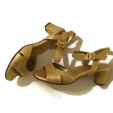 Taryn Rose | Vintage Italy yellow mustard gold patent leather low heels Sz - 37
