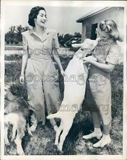 1941 Woman Farmer With Animals Models Coverette Suit Work Fashions  Press Photo