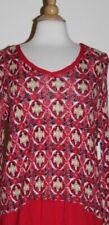 T-shirt, maglie e camicie da donna rosso a fantasia righe in cotone