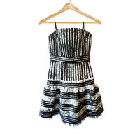 BCBG Maxazria Black Fit and Flare Party Dress Size 8 Cocktail Evening