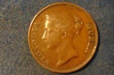 East India Co. 1845 one Cent ,nice circulated example