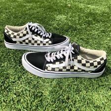 Vans Ultracush Black/White Checkerboard Print Skate Shoes Mens 9 Womens 10.5