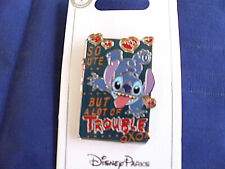 Disney * STITCH - SO CUTE BUT A LOT OF TROUBLE * New on Card Trading Pin
