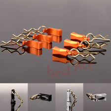 for 1/10 1/18 R/C BCM004M 6pcs Racing Body Clips with Aluminum Mount