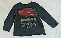 Gap Red Fire Truck Navy (2 Years) Long Sleeve Toddler Shirt