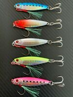 5x Micro Jigs Butterfly Metal Jig Fishing Lure 30g Snapper Jigging Tuna Lures