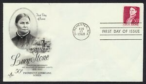 #1293 50c Lucy Stone, Art Craft-Addressed Creased FDC **ANY 5=FREE SHIPPING**