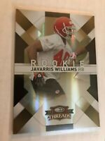 Javarris Williams 2009 Donruss Threads Gold Holofoil Rookie #D 07/50 Chiefs