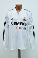 REAL MADRID SPAIN 2004/2005 HOME FOOTBALL SHIRT JERSEY ADIDAS LONG SLEEVE