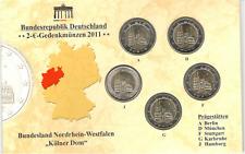 """2 Euro Gedenkmünze 2011 Deutschland Kölner Dom """"A-J"""" Stempelglanz"""