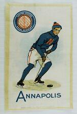 C.1910 Annapolis Us Naval Academy Hockey Team Tobacco Silk Vintage Original
